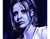 Buffy The Vampire Slayer Chosen Blue Limited Edition Print on premium canvas texture paper