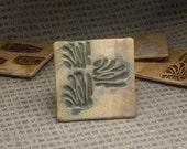 Handmade Ceramic Coaster Set  of 4, Abstract Stamp design