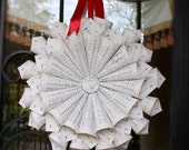 Gorgeous Hand Made Vintage Sheet Music Wreath