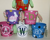 Personalized Easter Bucket - Bucket for Kids - 5-quart Bucket - Custom Bucket - Easter Basket - Easter Egg Hunt - Easter Bunny - Monogram