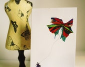 Greeting Card with original illustration, The Fantastical ,Majestical Giant Butterfly