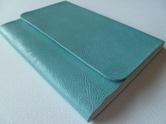 Artist Sketchbook Beautiful Light Blue Soft Leather Handmade