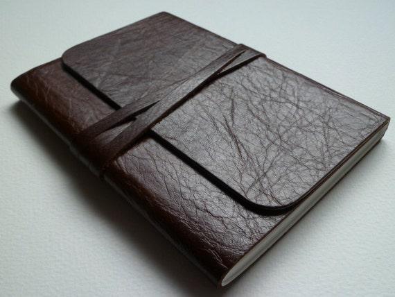 Leather Bound Artist Sketchbook Traditional Hazelnut Brown Handmade