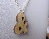 Ampersand & Typography Wooden Necklace