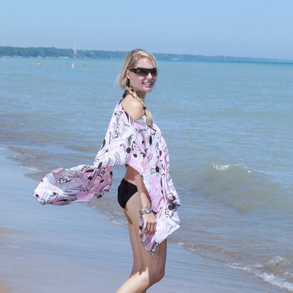 Beach Poncho Caftan Tunic  Swimsuit Cover Up