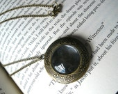 Brass Round 3 photo Locket -- Custom Photo Necklace