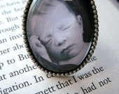 Custom Photo Added--Large Sterling Silver Oval Ring
