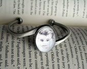 Custom Photo Bracelet--Antique Silver Medium Custom Photo Bangle