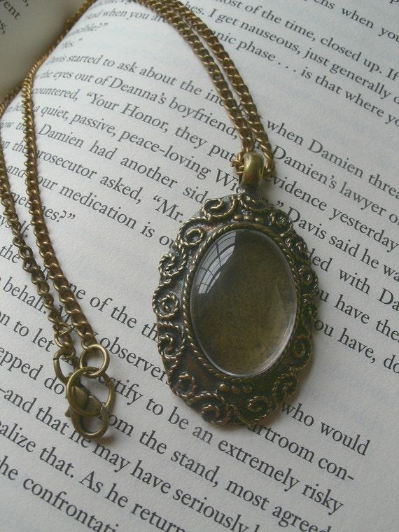 Antique Brass Victorian Custom Photo Necklace