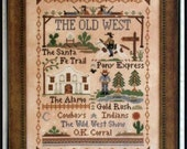 The Old West - cross stitch pattern by Little House Needleworks