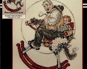 Stoney Creek: Grandpa Takes the Reins -  Dec 16, 1933 (OOP) - a Saturday Evening Post Cross Stitch Pattern