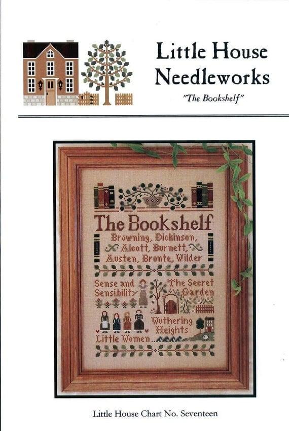 Reserved for customer Sharon Sprik ~~ Little House Needleworks: The Bookshelf  (OOP) - Cross Stitch Pattern
