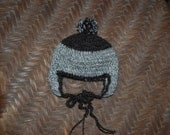 Newborn Baby Hat in Undyed Alpaca Natural Eco Friendly