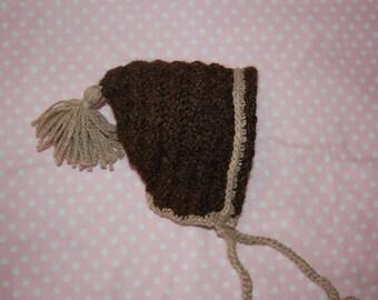 Undyed Alpaca Pixie Bonnet for Baby