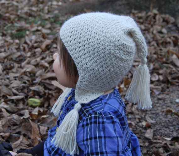 Snow Baby Hat in Natural Alpaca size 6 months Cream Colored