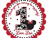 Traditional Minnie Mouse Inspired Favor Tags