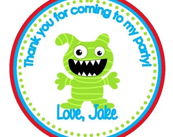 Adorable Monster Birthday Party Favor Tags