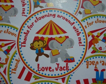 NEW Custom Circus Favor Tags