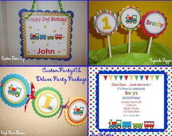 Choo Choo Train Deluxe Party Package