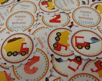 Adorable Dump Truck Table Confetti