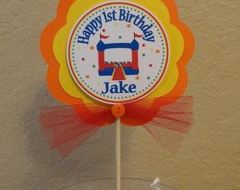 Bounce House Centerpiece Stick/ Smash Cake Topper