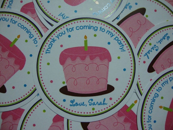 Cupcake Birthday Party Favor Tags Girl/Boy