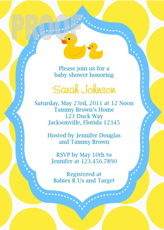 Rubber Duckie Baby Shower Invitations is great invitation design