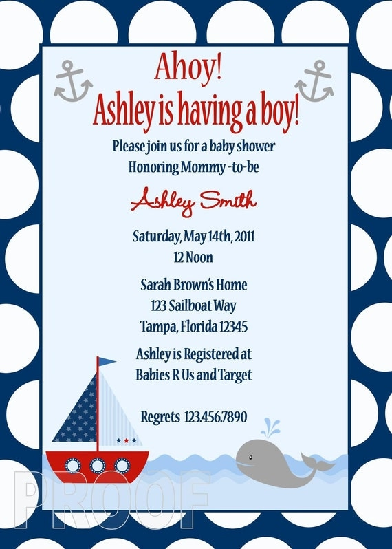nautical ahoy it's a boy baby shower favor,