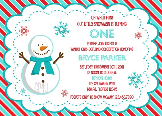 Winter Onederland Party Invitations is amazing invitations example