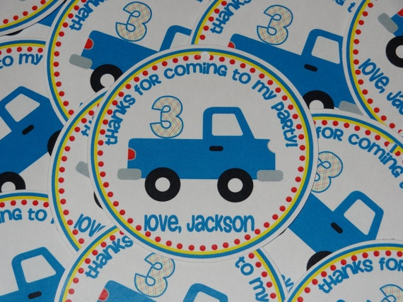 Transportation Favor Tags - Cars, Trucks, Taxi, Firetruck, Police, Airplane, Etc.