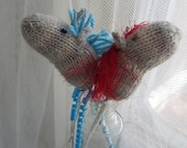 Knitting Pattern- Hobby Horse for Blythe, or Christmas Ornament