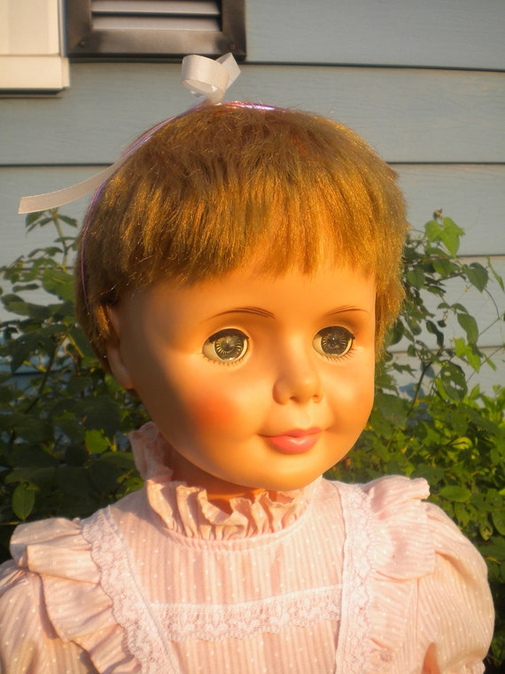"""Beautiful 35"""" Walking Companion doll from the 1960's Playpal"""