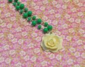 Cream Rose Necklace