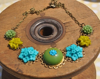 Funky and Fun floral necklace