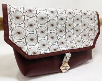Large Faux Leather  Handlebar Bag  0938