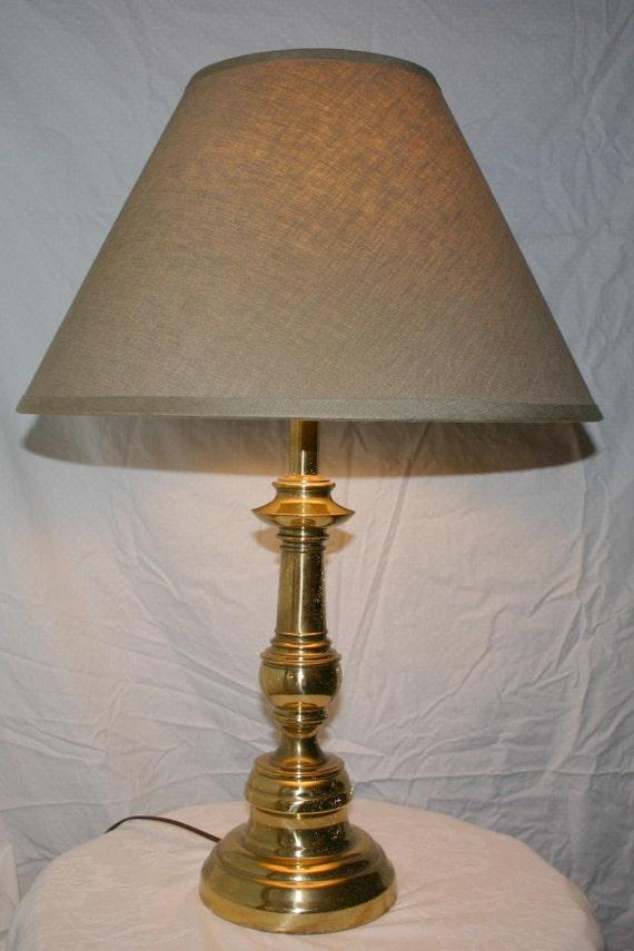 Vintage solid brass stiffel table lamp circa 1960s or 70s 3 way