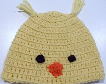 crochet chick hat