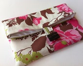 Heirloom Rose Fold Over Cosmetic Bag