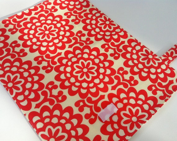 Waterproof Changing Pad - Red Lotus