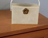 Unique Wilardy Vintage Lucite Box Purse - 50s