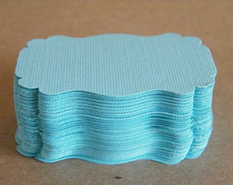 Gift Tags 150 Escort Cards Blank -Turquoise- Textured Cardstock Style DIY-Wedding Wish Tree Cards-Favor Tags-Die Cut
