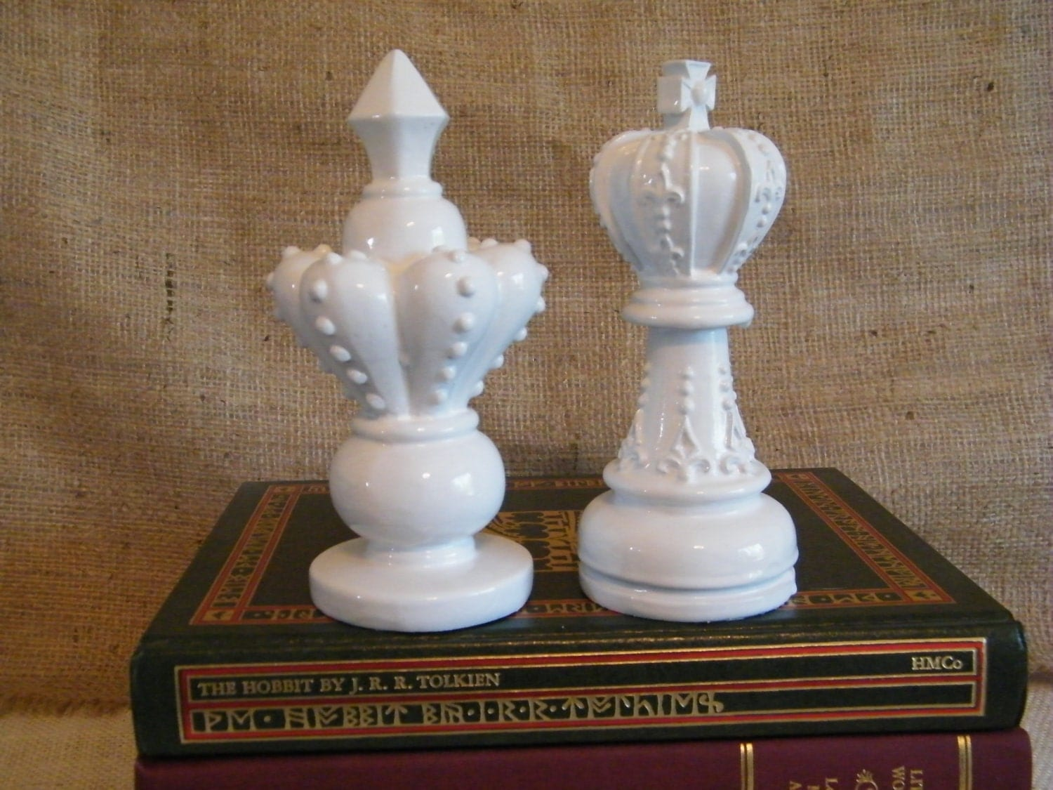 Modern white oversize chess pieces for home decoration by for Modern home decor pieces