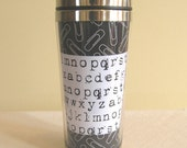Paper Clips and Type Stainless Steel Mug 16oz