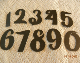 2 inch Personalized Paper Numbers 1-20 for Banner, Table Numbers, Birthday Numbers or Scrapbook Die Cuts