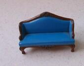 Vintage Mattel Cast Iron Dollhouse Miniature Sofa 1980