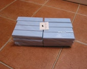 Lot of 24 High End Baby blue Faux Leather Gift Boxes for showers, jewelry, pens or gadgets