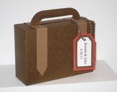 10 Suitcase Favors - Brown with tan straps