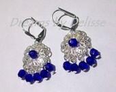 Bluest Blue Czech Glass earrings