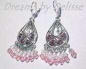 Cherry Blossom Swarovski Crystal Chandelier earrings