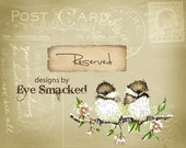 Etsy banner Two Chicks, cute baby birds, Postcard six piece shop front design